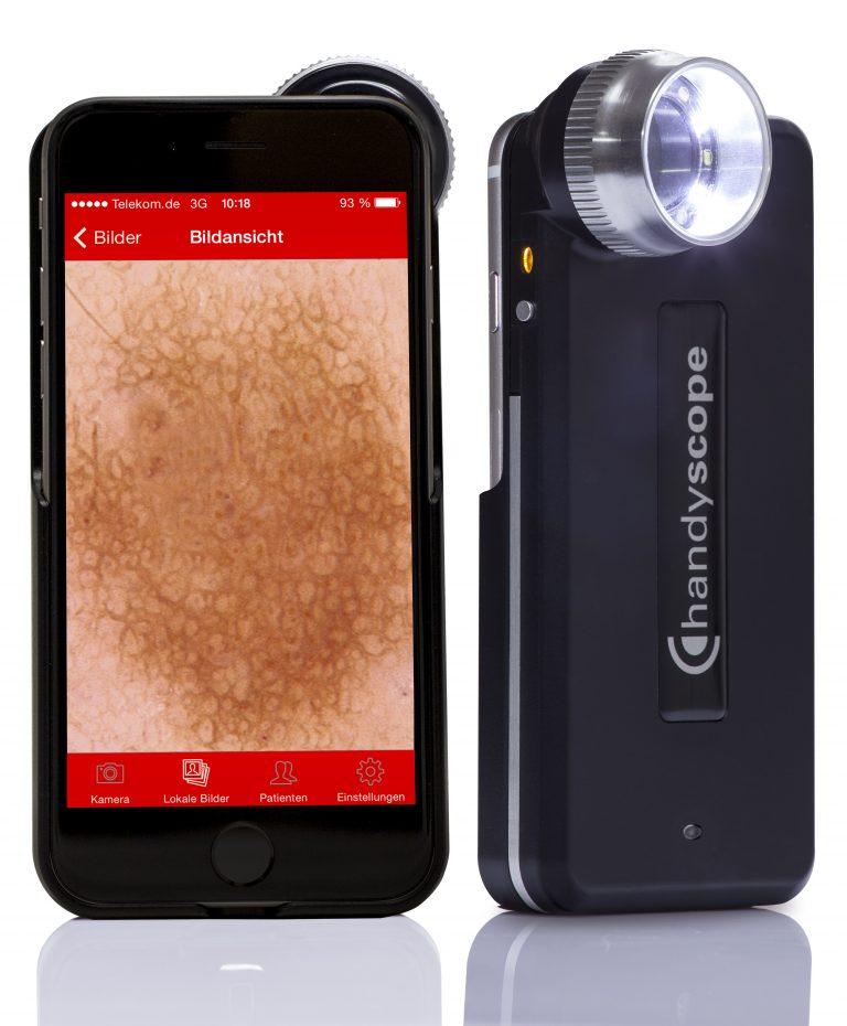 FotoFinder Handyscope Precision optics TwinLight Immersion Polarization Intuitive App